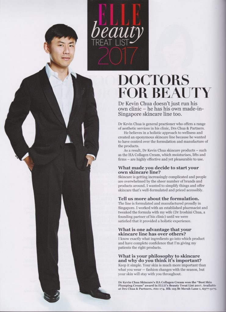 Elle Magazine Singapore Portrait Dr Kevin Chua - Jan 2017