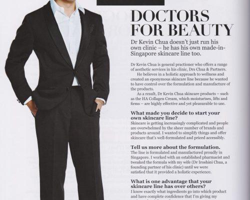 Elle Magazine Singapore Portrait Dr Kevin Chua - Jan 2017
